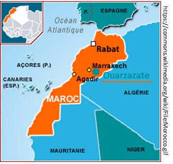 Localisation Ouarzazate